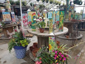 Peace poles Nicks Greenhouse