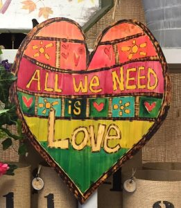 Love sign Nicks Greenhouse