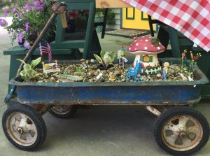 Fairy garden children wagon Nicks Greenhouse
