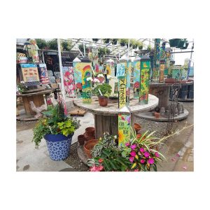Peace Poles at Nick's Greenhouse