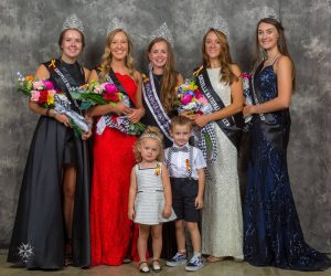 Floral bouquets for queens at Knoxville Raceway